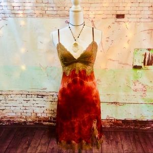 VINTAGE VICTORIAS SECRET CUSTOM DYED SLIP DRESS